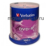 Диск DVD+R VERBATIM 4,7Gb 16x Cake Box