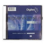 Диск DVD+R  DIGITEX 4,7Gb 16x Slim Case