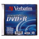 Диск DVD+R VERBATIM 4,7Gb 16x Slim Case