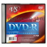 Диск DVD-R(минус) VS 4,7Gb 16x Slim Case